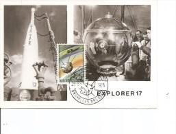 Espace -Explorer 17 ( CM De Belgique De 1966 à Voir) - FDC & Commemoratives