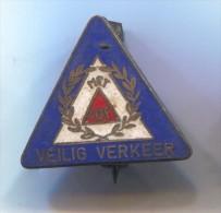 MET LOF VEILIG VERKEER - Holland Netherlands, Vintage Pin Badge, Enamel - Pin's