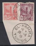 France - Cachet 1939 De EL HAMMA En Tunisie FRAPPE SUPERBE Cad PEU COURANT Avec Tirets Sur Fragment - Covers & Documents