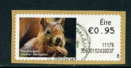 IRELAND  2010  Post And Go Label  Red Squirrel  CDS Cancel  As Scan - 1949-... République D'Irlande