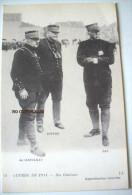 GUERRE 1914 - NOS GENERAUX   DE CASTELNAU  JOFFRE   PAU - War 1914-18