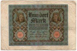 Germania Impero 100 Mark 1920 - [ 2] 1871-1918 : German Empire
