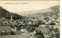 CPA 04 VALLEE DU VERDON COLMARS LES ALPES VUE GENERALE 1913 - Andere Gemeenten