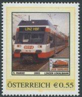 ÖSTERREICH / PM Nr. 8007836 / 1. Fahrt Der LILO Am Linz Hbf / Postfrisch / MNH / ** - Personalisierte Briefmarken