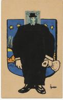 Carte Philatelique Montage Timbre  Peinte Main Ecusson Philatelic Card President Soto Born Alajuela  Caricature - Costa Rica