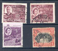 NORTH BORNEO, Postmarks Sandakan, Labuan, Kudat, Jesselton - Bornéo Du Nord (...-1963)