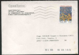 """1999 Italia, Lettera Affrancata Con Valore Lire 800 """"francobollo Nostro Amico"""" - 6. 1946-.. Republic"""