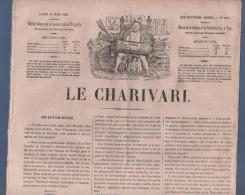 LE CHARIVARI 10 06 1850 - DOTATION RENTREE GOUVERNEMENT - ODILON BARROT - HAÏTI FAUSTIN SOULOUQUE - CH. VERNIER THIERS - 1800 - 1849