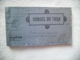 CARNET COMPLET DE 24 CARTES DES GORGES DU TARN....CASTELBOU.STE ENIMIE...LA MALENE.LES DETROITS..ETC - Cartoline
