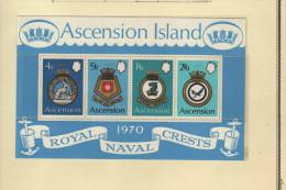 "Ascension (1970)  - BF ""Blasons De La Marine Royale"" Neufs** - Ascensione"