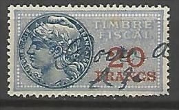 FISCAL  N� 150a VALEUR VERMILLON  OBL