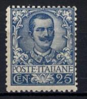 Italia Regno 1901 Sass.73 **/MNH VF/F - Cert.R.Diena - 1900-44 Vittorio Emanuele III