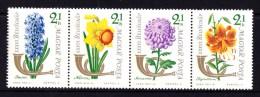 Hungary 1963 Flowers Strip Of 4 MNH - Hungary