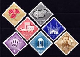 Hungary 1963 Seven Triangle Stamps MNH - Hungary