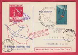 176457 / 1963 - 9th Glider Flight Champions , PRZESYLKA SZYBOWCOWA , SRODA - TARNOW Poland Pologne Polen Polonia - Airmail