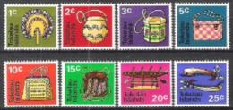 Tokelau 1971 Arbeitswelt Berufe Handwerk Flechtwaren F�cher Taschen K�rbe Kanu Fischerei Fischhaken, Mi. 18-5 **