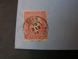 == Spanien , Alter Brief 1859  !!   Bahnpost  ?? - 1850-68 Kingdom: Isabella II