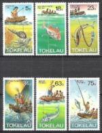 Tokelau 1982 Arbeitswelt Fischerei Fische Fish Tintenfische Angeln Haken Leinen Ernährung Nahrung, Mi. 78-3 ** - Tokelau