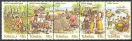 Tokelau 1984 Arbeitswelt Wirtschaft Landwirtschaft Kopraindustrie Kokos B�ume Trees Palmen, Mi. 96-0 **