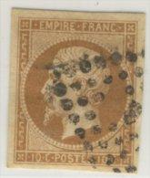 Empire Français - Napoléon III - 10 C - Non Dentelé - Charnière - Obl. Gros Points - 1862 Napoléon III.