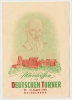 """1950, Lot, 4 AK,  """" Heidelberg, Deutsche Turner """"   #2323 - Heidelberg"""