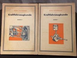 2 Hefte Kraftfahrzeugkunde Technik Auto KFZ Hans Jachmann Band 1 + 2 Leipzig 1955 - Shop-Manuals