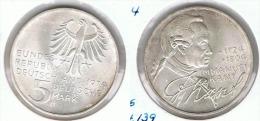 ALEMANIA DEUTSCHES MARK 5 MARK 1974 D KANT   PLATA SILBER. F1 - [ 6] 1949-1990 : RDA - Rep. Dem. Alemana