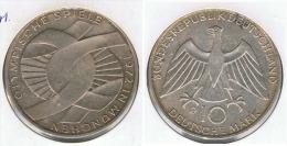 ALEMANIA DEUTSCHES MARK 10 MARK 1972  D  PLATA SILBER. F1 - [ 6] 1949-1990 : RDA - Rep. Dem. Alemana