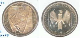 ALEMANIA DEUTSCHES MARK 10 MARK 1990  J ORDEN TEUTONICA  PLATA SILBER. F1 - [ 6] 1949-1990 : RDA - Rep. Dem. Alemana