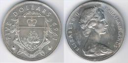 BAHAMA 5 DOLLARS 1969 PLATA SILVER G1 - Bahamas