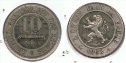 BELGICA 10 CENTIMES FRANC 1862 G1 - 1831-1865: Léopoldo I