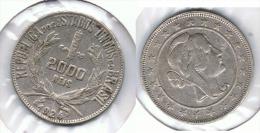BRASIL 2000 REIS 1924 PLATA SILVER G1 - Brasil
