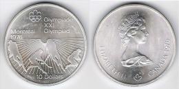 CANADA 10 DOLLARS OLIMPIADA 1976 PLATA SILVER G1 - Canada
