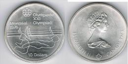 CANADA 10 DOLLARS OLIMPIADA REMO 1975 PLATA SILVER G1 - Canada