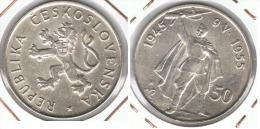 CHECOSLOVAQUIA 50 CORONAS 1955  PLATA SILVER F1 - Checoslovaquia