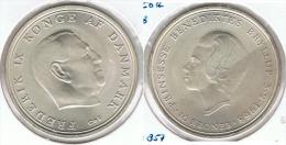 DINAMARCA 10 CORONA 1968 PLATA SILVER G1 - Dinamarca