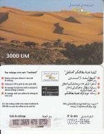 MAURITANIA - Desert, Mauritel Prepaid Card 3000 UM(matt Surface), Used - Mauritanië