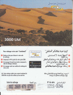 MAURITANIA - Desert, Mauritel Prepaid Card 3000 UM(matt Surface), Used - Mauritania