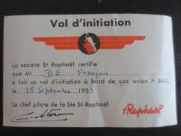 Vol D'initiation   St Raphael - Publicités