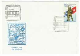 Uruguay // FDC // 1er Août 700 Ans De La Suisse - Uruguay