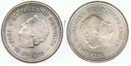 HOLANDA 10 GULDEN 1970 PLATA SILVER DOS REINAS F2 - [ 3] 1815-… : Reino De Países Bajos