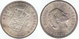 HOLANDA ANTILLAS  2 Y MEDIO GULDEN 1964 PLATA SILVER F1 - Antillas Neerlandesas