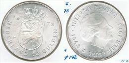 HOLANDA ANTILLAS  2 Y MEDIO GULDEN 1973 PLATA SILVER F1 - Antillas Neerlandesas