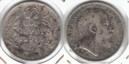 INDIA RUPIA RUPEE  EDUARDO 1904 PLATA SILVER F1 - India