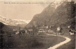 Val D'aosta-aosta-saluti Da Issime Veduta Panorama Villa Cristillin Issime - Altre Città