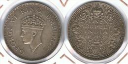 INDIA RUPIA RUPEE JORGE VI  1940 PLATA SILVER F1 - India