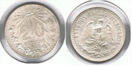 MEXICO 20 CENTAVOS  PESO 1942 PLATA SILVER F1 - México
