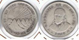 NICARAGUA 50 CENTAVOS DE CORDOBA 1912 PLATA SILVER F1 - Nicaragua