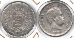 PORTUGAL 500 REIS 1896 PLATA SILVER F1 - Portugal