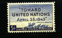 UNITED STATES/USA - 1945  TOWARD UNITED NATIONS  MINT NH - Stati Uniti